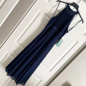 Jones Wear Navy Blue Maxi Formal Dress